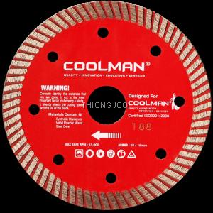 """COOLMAN 105mm (4"""") Diamond Cutting Blade Cutter Disc"""