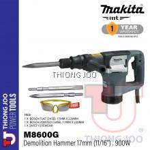 """Makita M8600G 17mm (11/16"""" ) Hex Shank Demolition Hammer"""