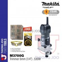"Makita M3700G 6mm (1/4"") Trimmer"