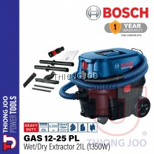 BOSCH GAS 12-25PL WET/DRY EXTRACTOR