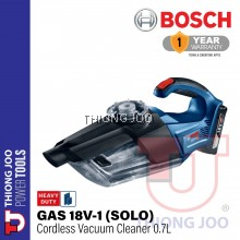 BOSCH GAS 18V-1 CORDLESS VACUUM CLEANER SOLO