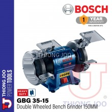 BOSCH GBG 35-15 350W 150MM DOUBLE-WHEELED BENCH GRINDER
