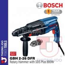 BOSCH GBH 2-26DFR 800W ROTARY HAMMER with SDS-PLUS