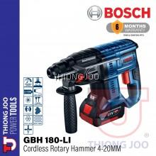 BOSCH GBH 180-LI CORDLESS ROTARY HAMMER 4-20MM 0-1.7J