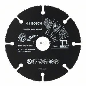 BOSCH CARBIDE MULTI WHEEL 2608642952 (110 x 1 x 20/16MM)